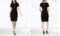 Calvin Klein Petite Seamed Scuba Crepe Sheath Dress