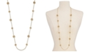 """Charter Club Crystal Filigree Long Strand Gold-Tone Necklace, 42"""" + 2"""" extender, Created for Macy's"""