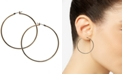 """GUESS 1 1/2"""" Gold-Tone Large Polished Hoop Earrings"""