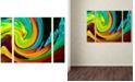 """Trademark Global Amy Vangsgard 'Crashing Wave' Large Multi-Panel Wall Art Set , 25"""" x 30"""""""