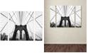 "Trademark Global Nina Papiorek 'NYC Brooklyn Bridge' Multi Panel Art Set Large - 41"" x 30"" x 2"""