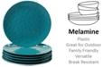 Certified International 6-Pc. Teal Melamine Dinner Plate Set