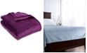 "Berkshire VelvetLoft Textured Grid 90"" x 90"" Full/Queen Bed Blanket"
