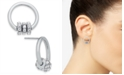 INC International Concepts INC Silver-Tone Pavé Rondelle Bead & Circle Stud Earrings, Created for Macy's