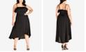 City Chic Trendy Plus Size Faux-Wrap Dress