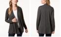 Karen Scott Petite Open-Front Knit Cardigan, Created for Macy's
