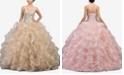 Dancing Queen Juniors' Embellished Ruffled Ballgown