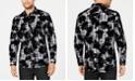 INC International Concepts INC Men's Flocked Plaid Shirt, Created for Macy's