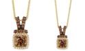 "Le Vian Chocolatier® Diamond Halo 18"" Pendant Necklace (3/4 ct. t.w.) in 14k Gold"