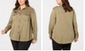 Seven7 Jeans Trendy Plus Size Embellished Collared Shirt