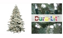 Vickerman 9' Flocked Alaskan Pine Artificial Christmas Tree with 900 Clear Lights and 50 G50 White Lights