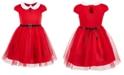 Pink & Violet Little Girls Santa Dress