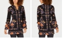 Style & Co Floral-Print Peasant Tunic Top, Created for Macy's