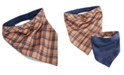 Mimish House of Barker Brown Plaid Reversible Beige/Brown Bandana Large