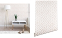 Deny Designs Little Arrow Design Co Arcadia Herringbone in Blush 2'x4' Wallpaper