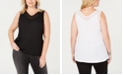INC International Concepts INC Plus Size Sheer-Trim Tank, Created for Macy's