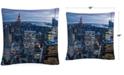 "Baldwin Yakov Agani New York City, NY 16"" x 16"" Decorative Throw Pillow"