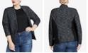 RACHEL Rachel Roy Trendy Plus Size Open-Front Jacket