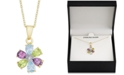 """Macy's Multi-Gemstone (2-5/8 ct. t.w.) & Diamond Accent 18"""" Pendant Necklace in 18k Gold-Plated Sterling Silver"""