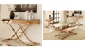 Furniture of America Xander Mirrored Console Table