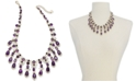 """Charter Club Gold-Tone Crystal & Stone Statement Necklace, 17"""" + 2"""" extender, Created for Macy's"""