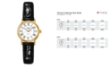 Longines Women's Swiss Automatic Presence Black Croc Embossed Leather Strap Watch L43212112