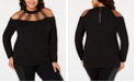 Belldini Plus Size Studded Strappy Sweater