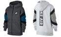Nike Big Boys Air-Print Colorblocked Zip-UP Hoodie