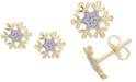 Disney Children's Frozen Snowflake Stud Earrings in 14k Gold