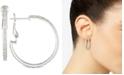 Simone I. Smith Cubic Zirconia Hoop Earrings in Sterling Silver