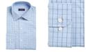 Club Room Men's Big & Tall Classic/Regular-Fit Stretch Windowpane Dress Shirt, Created for Macy's