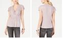 INC International Concepts INC Pleated Metallic Cap-Sleeve Top, Created for Macy's
