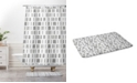 Deny Designs Holli Zollinger Bogo Mudcloth White Bath Mat