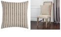 """Rizzy Home 20"""" x 20"""" Ticking Stripe Poly Filled Pillow"""