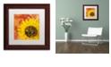 """Trademark Global Cora Niele 'Sunflower - Love of Light' Matted Framed Art, 11"""" x 11"""""""