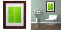 "Trademark Global Cora Niele 'Leaf Texture I' Matted Framed Art, 11"" x 14"""