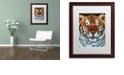 "Trademark Global Jenny Newland 'Awesome Beauty' Matted Framed Art, 16"" x 20"""