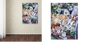"Trademark Global Jenny Newland 'Purfect Gardening Buddies' Canvas Art, 35"" x 47"""
