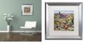 "Trademark Global Jenny Newland 'Grand Canyon Babies' Matted Framed Art, 16"" x 16"""
