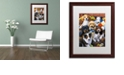 "Trademark Global Jenny Newland 'Country Bumpkin Puppies' Matted Framed Art, 16"" x 20"""