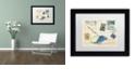 "Trademark Global Nick Bantock 'Fishlizard' Matted Framed Art, 11"" x 14"""
