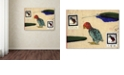 "Trademark Global Nick Bantock 'Katin Parrot' Canvas Art, 24"" x 32"""