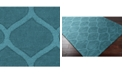 "Surya Mystique M-5109 Teal 18"" Square Swatch"