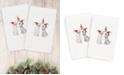 Linum Home CLOSEOUT!  Christmas Cute Couple 100% Turkish Cotton 2-Pc. Hand Towel Set
