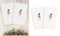 Linum Home CLOSEOUT!  Snowman 100% Turkish Cotton 2-Pc. Hand Towel Set