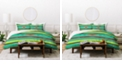 Deny Designs Holli Zollinger Kawa Turquoise Blanket King Duvet Set