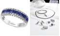 EFFY Collection EFFY® Sapphire (1-1/3 ct. t.w.) & Diamond (1/8 ct. t.w.) Ring in 14k White Gold