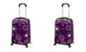 "Rockland Purple Pearl 20"" Hardside Carry-On"