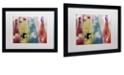 "Trademark Global Color Bakery 'Bouteilles Ii' Matted Framed Art, 16"" x 20"""