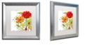 "Trademark Global Color Bakery 'Aria Ii' Matted Framed Art, 16"" x 16"""